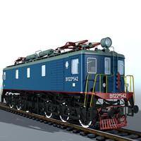 3d model electric locomotiv vl22m locomotives