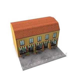 3d exterior cafe model