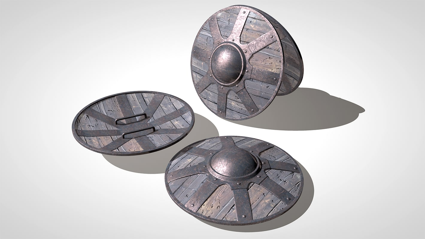 3d buckler shield model