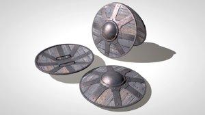 3d buckler shield model