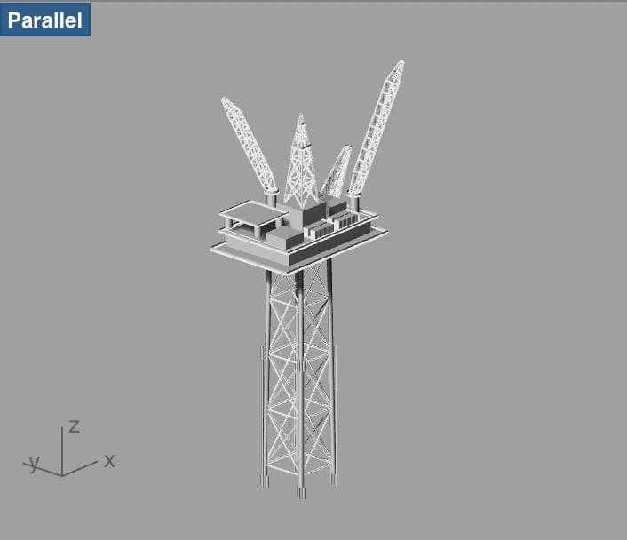 compliant platform offshore 3d 3dm
