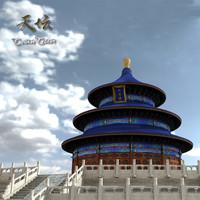 tiantan heaven temple 3d model