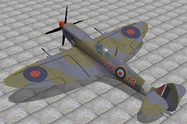 max supermarine spitfire fighter ix
