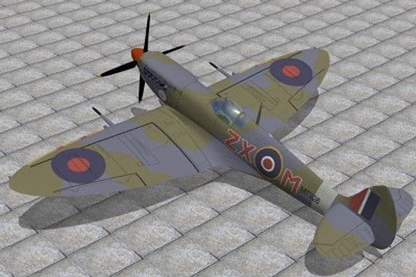 max supermarine spitfire fighter ix