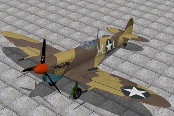 max supermarine spitfire fighter v