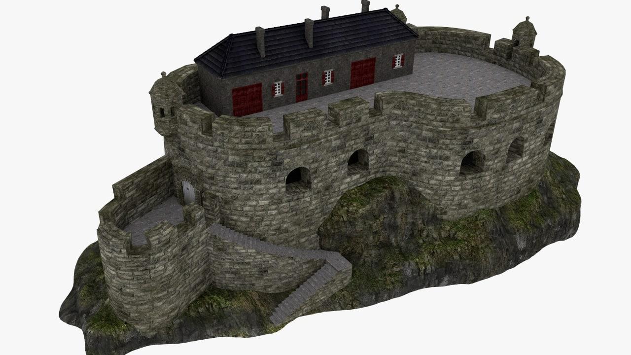 3d model fort english vauban