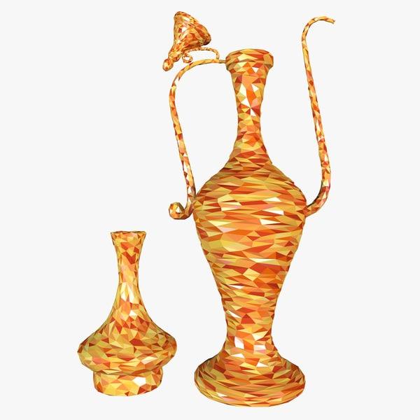 3d cartoon jugs style