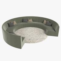 3d lounge rug fur