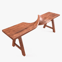 swirling bench 3d obj