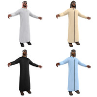 arab men man 2 3d model