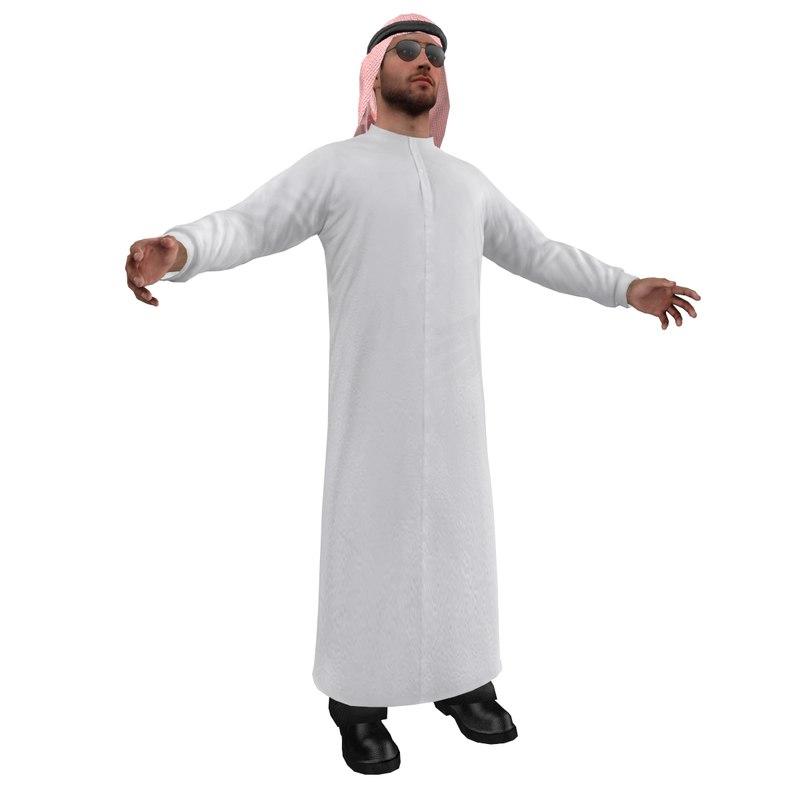 3ds max arab man