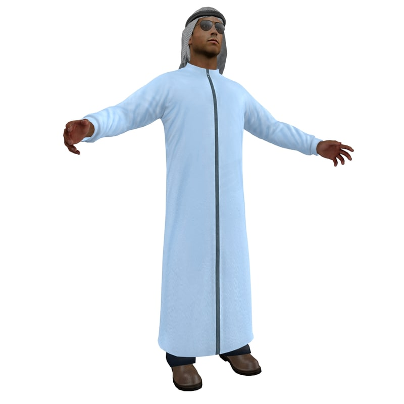 3d model of arab man