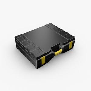 obj plastic briefcase