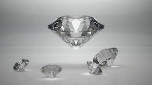 ideal cut diamond 3d model