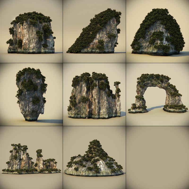 maya rocks plants