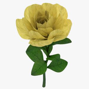 gardenia branch 02 3d max