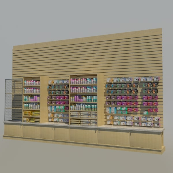 3d model pet merchandise wall