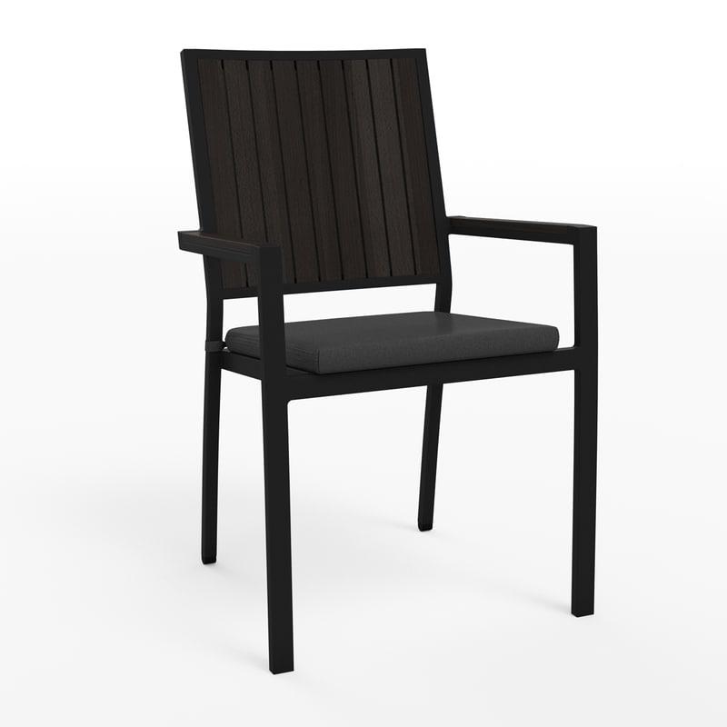 alfresco dining chair 3d max