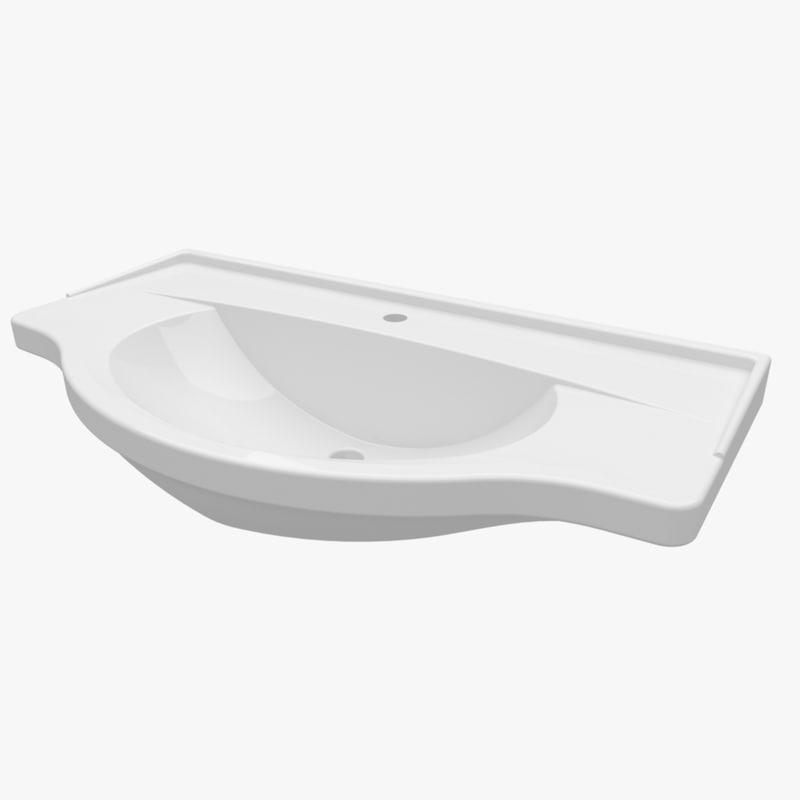 washbasin 950 335 3d max