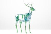 emerald deer 3d model