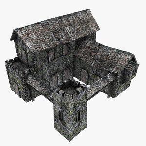 3d model medieval barracks