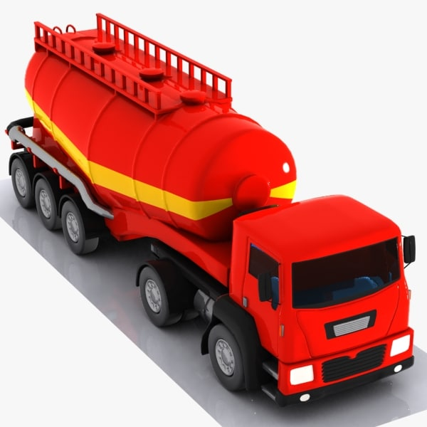 3d cartoon v-type truck model