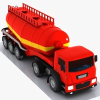 3d cartoon v-type truck model