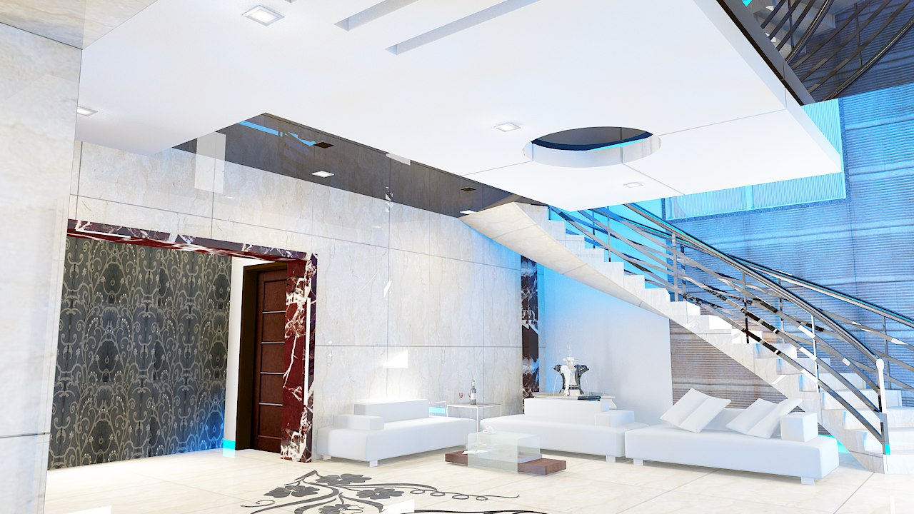 3d model living kitchen