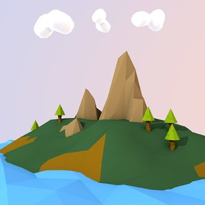 real island 3d c4d