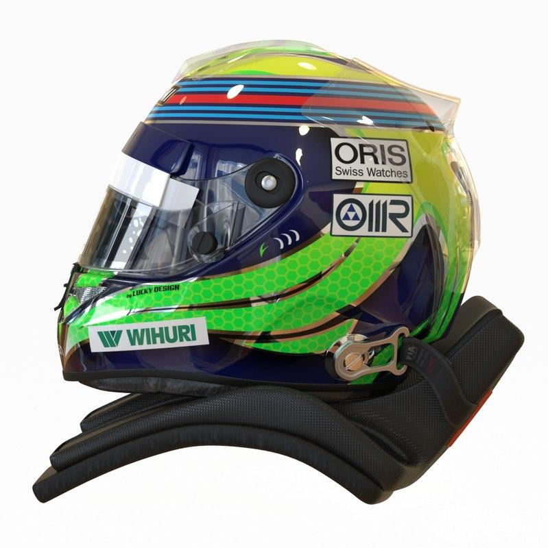 3d model racing helmet felipe massa