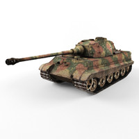 3d king tiger