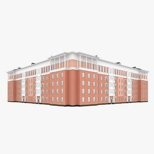 3d 3ds middle corner building