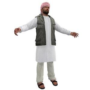 3d arab man