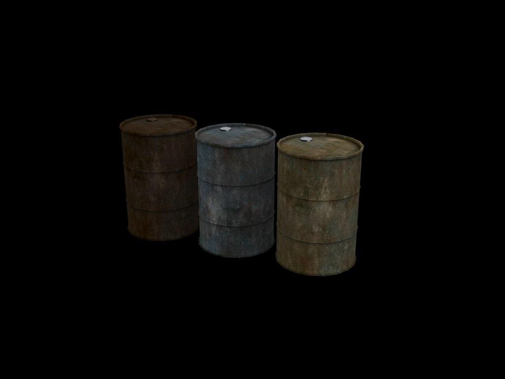 free 3ds model metal drums