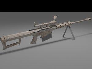 3d barrett m107 sniper