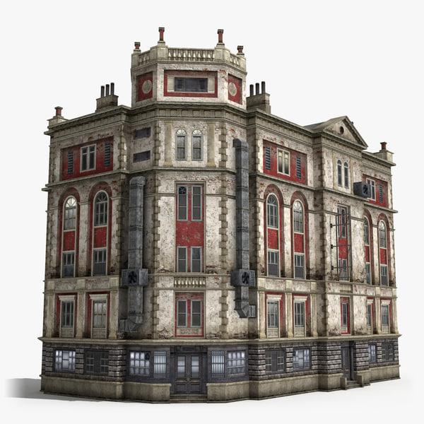 5-storey house 3d model