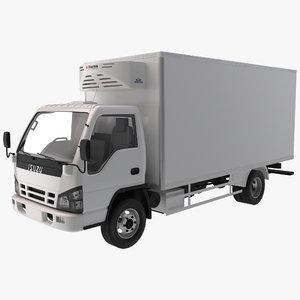 3ds max refrigerator truck isuzu npr