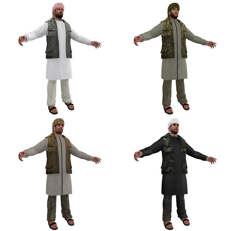 3d arab men man