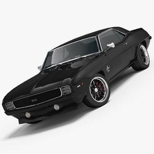 chevrolet camaro ss 1969 3d 3ds