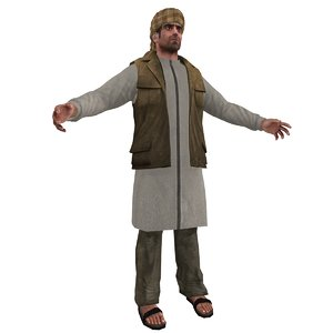 3d model arab man