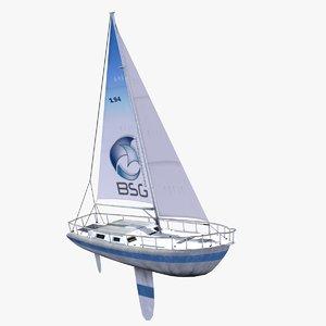 3d max sailing yacht ships boat