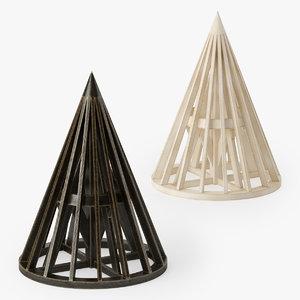 3d model wood cone maquette
