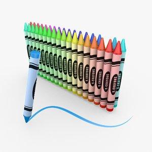 c4d crayons rendered