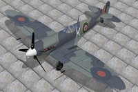 3d supermarine spitfire seafire model