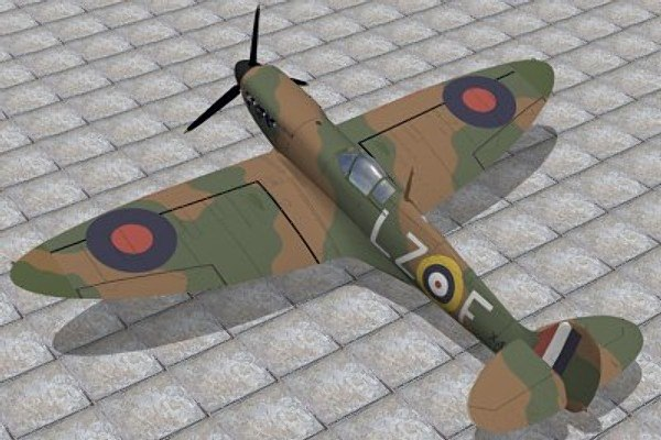 supermarine spitfire 3d 3ds