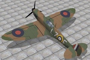supermarine spitfire 3d 3ds