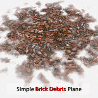 Brick Simple Debris Plane Stone Debris Pile Detailed V ray v-ray Vray detail red dirty old dirt soil