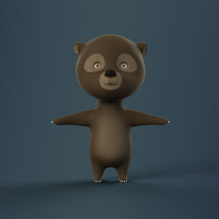 max rigged cartoon bear character
