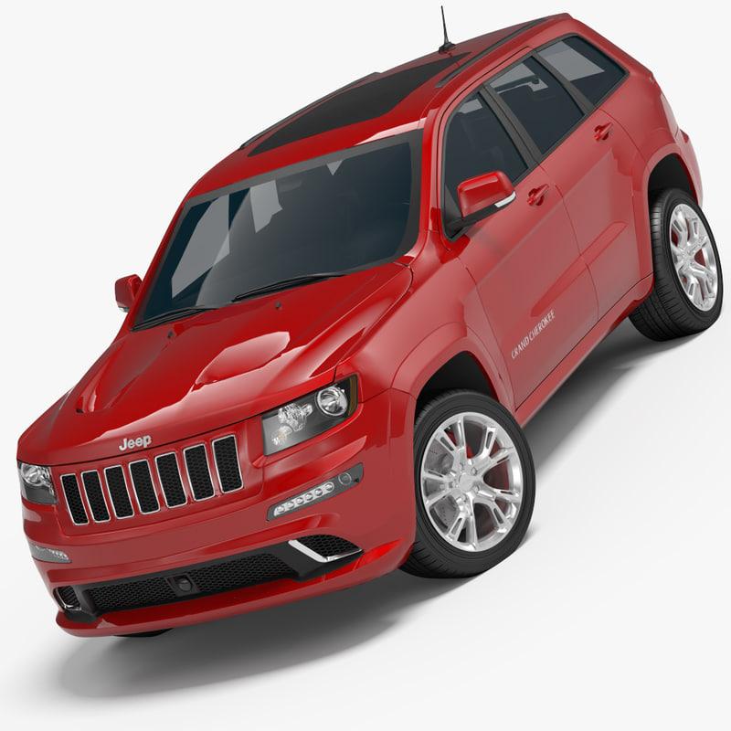 jeep grand cherokee srt 3d model