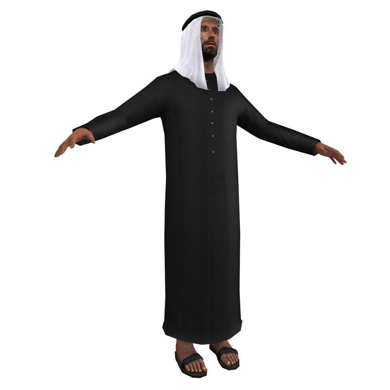 arab man 3d max